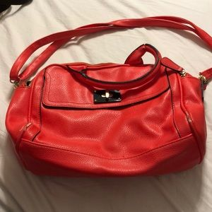 Bright red-orange purse